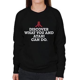 Atari Upptäck vad du kan göra kvinnor & apos; s sweatshirt