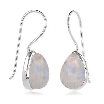 ADEN 925 Sterling Silver MoonPear Shape Earrings (id 3867)