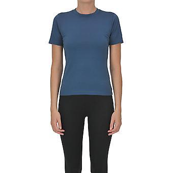 Acne Studios Ezgl151067 Women-apos;s Blue Cotton T-shirt