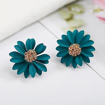 Green Daisy Flower Studs for Women