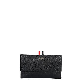 Thom Browne Fac062a00198001 Women's Black Leather Wallet