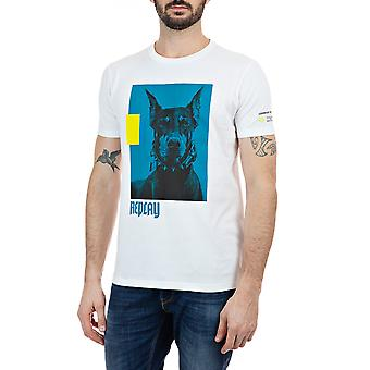 Replay Men's Print T-Shirt Regular Fit