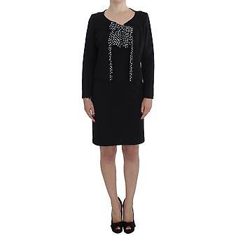 ベンシヴェンガ ブラック ストレッチ シース ドレス&セーター セット SIG30869-5