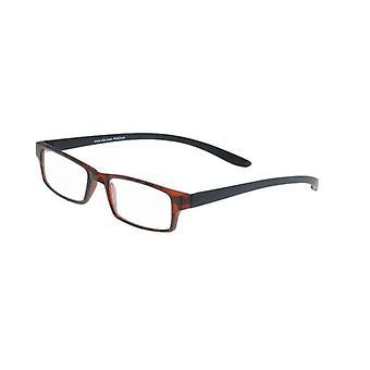 Gafas de lectura Unisex Le-0150D Mono-II Moda Negro/Brown Strength +2.00