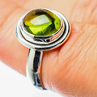 Peridot Ring Size 6.25 (925 Sterling Silver)  - Handmade Boho Vintage Jewelry RING25777