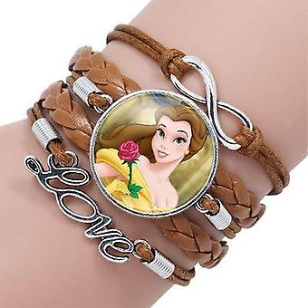 Disney Princess Styles Children Cartoon Bracelet- Frozen Elsa Lovely Girl Clothing Accessories Bangle Kids Toys Gifts