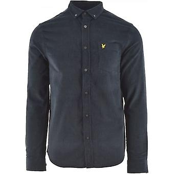 Lyle & Scott Dark Navy Needle Cord Shirt