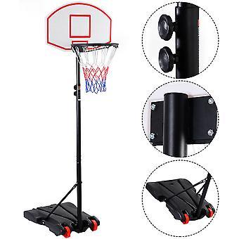 Basketball Set Portable Basketball Stand Adjustable Height 165-215 cm Hoop Net
