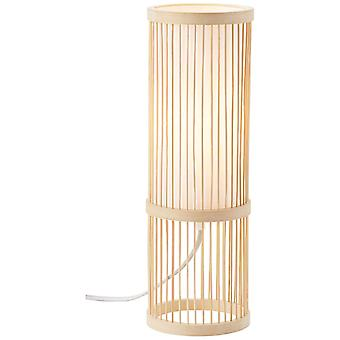 Lámpara BRILLANTE Nori Lámpara de Mesa Natural/Blanco 1x A60, E27, 40W, g.f. lámparas normales n. ent. | Con interruptor de intercambio de cable