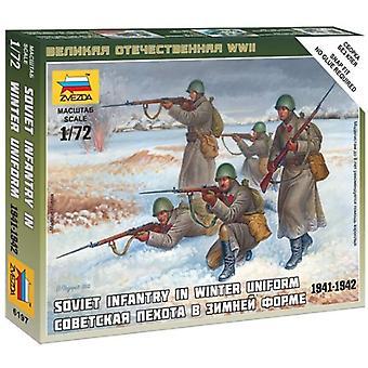 Zvezda Z6197 Sovjet Infanterie in water uniform cijfers schaal 1:72 Model Kit