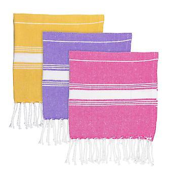 Nicola Spring 100% Turks Katoen Micro Handdoek - Set van 3 kleuren