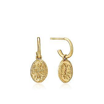 أنيا هاي الذهب حفار لامعة الذهب نكا مصغرة هوب أقراط E020-03G