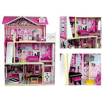 Puppenhaus aus Holz 121 cm Villa