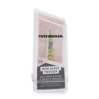 Mini pince à épiler inclinée (imprimé floral vintage) jaune (collection studio) 253586 -
