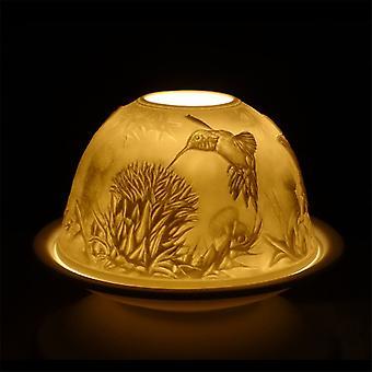 Nordic Lights Candle Shade & Plate - Hummingbird
