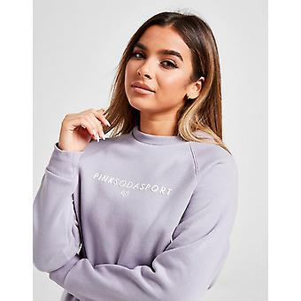 Nieuwe Pink Soda Sport Women's Lace Up Crew Sweatshirt Grey
