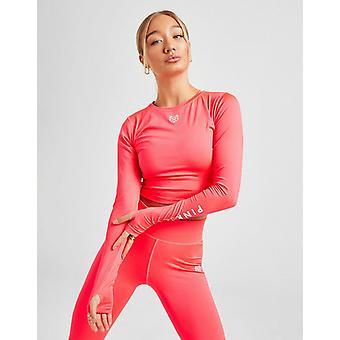 Nieuwe Pink Soda Sport Women's Crop Core Long Sleeve Top
