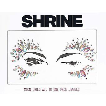 Shrine Individual Self Adhesive Face Jewel - Moon Child - Iridescent Pink