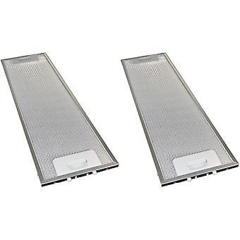 2 x Universal Cooker Hood Metal Grease Filter 165mm x 524mm