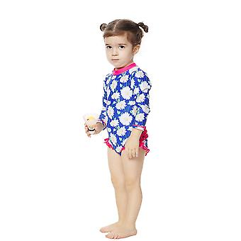 Bonverano Baby Girls UPF 50+ Sun Protection L/S Sleeves Zip Sunsuit