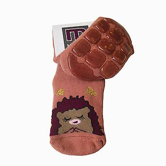 Melton pink sleeping hedgehog slipper socks