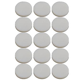 15 Pieces Trumpet Finger Key Buttons White Shell Inlays 13.6mm Dia