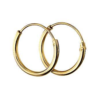 Begin Gold Plated 925 Sterling Silver 10mm Hoop Oorbellen