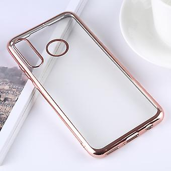 Ultra-thin Electroplating Soft TPU Protective Back Cover Case for Huawei P30 Lite (Rose Gold)
