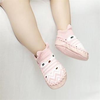 Syksyn vauvan lattia vauvan sukat kumipohjia, vastasyntyneet vauvan kengät