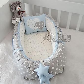 Special Hand Made Blue Star Luxury Orthopedic Baby Bed/babynest
