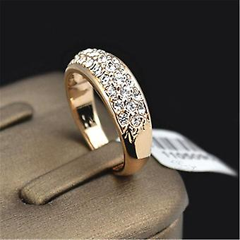 Engagement Wedding Ring Fashion Popular Rose Gold Zirconia Women's Ring Party