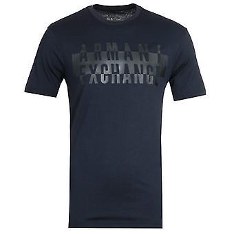 Armani Exchange Logo Navy T-Shirt
