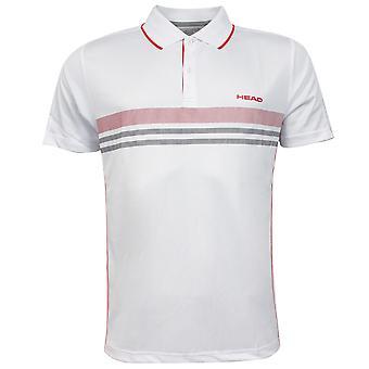 Head Club Poolopaita tekniset miesten valkoinen lyhythihainen paita 811655 RW60