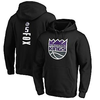 Sacramento Kings No.5 Fox Genser Hettegenser Swearshirt Topper 3WY320