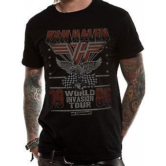 Van Halen Adults Unisex Adults Invasion Tour T-Shirt