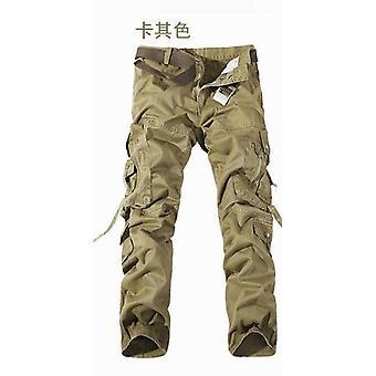 Military Tactical Spodnie Mężczyźni Multi-pocket Washed Kombinezon Luźna bawełna Męska