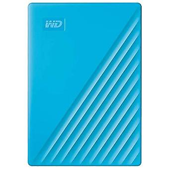 Wd 4 tb my passport portable hard drive with password protection and auto backup software - blue - w