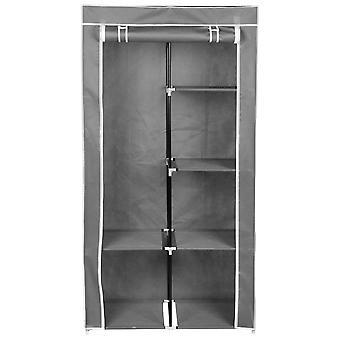 Šatní skříň, textil, světle šedá, 88x46x170 cm