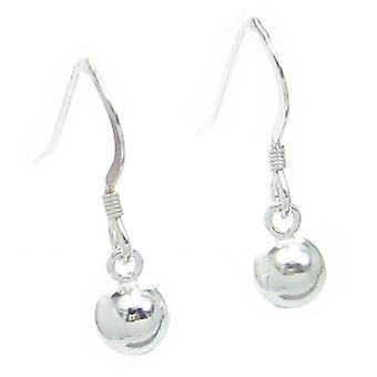 Ball Bead Dropper Sterling Silver Dangle Oorbellen .925 X 1 Pair Drops