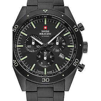 Reloj masculino militar suizo por Chrono SM34079.03, cuarzo, 43 mm, 10ATM