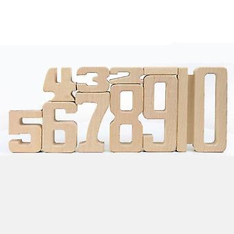 Number Building Blocks Wooden Math Digital