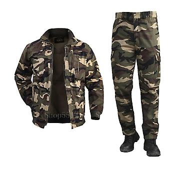 Cotton Military Cargo Pants Set, Tactical Camouflage Multicam Combat Bomber