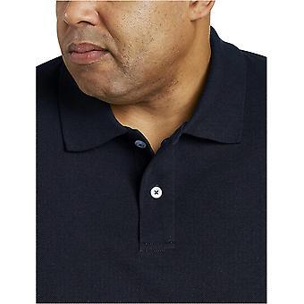 أساسيات الرجال & apos;ق كبيرة وطويلة القامة القطن بيكيه بولو قميص تناسب DXL, البحرية, ...