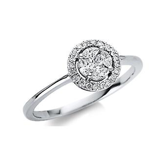 Luna Creation Promessa Ring Illusion 1U477W854-1 - Szerokość pierścienia: 54