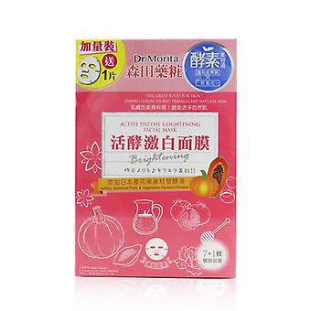 Active Enzyme Brightening Facial Mask - 8pcs