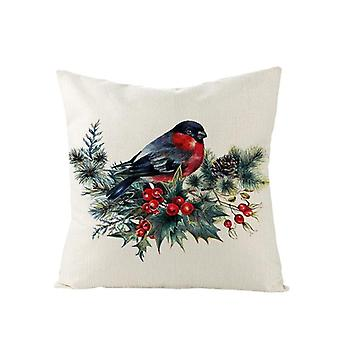 Merry Christmas 45*45 Flower Cotton Linen Sofa Cushions Covers