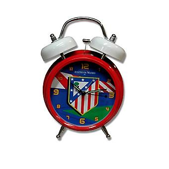 Atletico De Madrid FC Official Twin Bell Football Crest Musical Alarm Clock