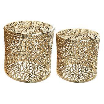 Boční stůl Dekodonia Aluminium Golden (2 ks)