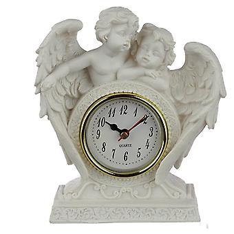 Paix de collection du chérubin de ciel - horloge sans fin de manteau d'amour
