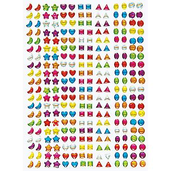 Baker ross mini self adhesive gems (pack of 280) multicoloured embellishments for kids arts & crafts